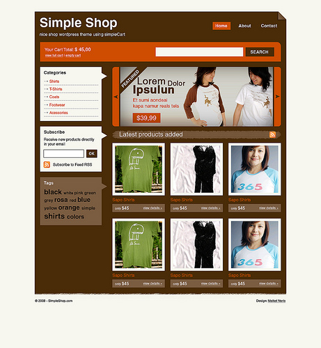 SimpleShop WordPress Theme จาก Wojo Group